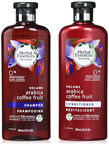 Herbal Essences, Shampoo and Paraben and Paraben Free Conditioner Kit, BioRenew Arabica Coffee Fruit, 13.5 fl oz, Kit (Best Herbal Essence Conditioner)