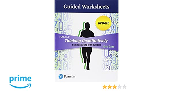 Book Title Worksheets : Amazon guided worksheets for thinking quantitatively