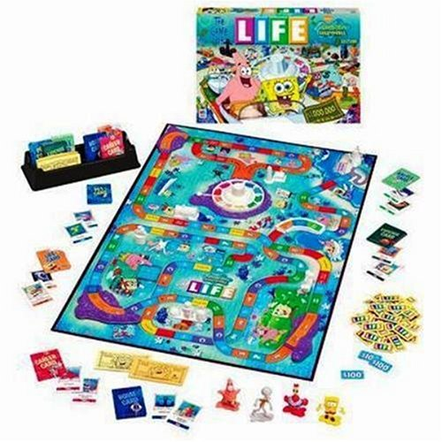 (Hasbro The Game of Life - Bikini Bottom SpongeBob SquarePants Edition)