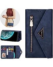 Miagon Galaxy S20 Ultra Crossbody Zipper Case,Wallet Purse Handbag with Wristlet & Shoulder Strap Card Slots Pocket PU Leather Flip Kickstand Cover for Samsung Galaxy S20 Ultra