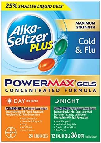 Alka-Seltzer Plus Alka-seltzer plus Maximum Strength Day & Night Cold & flu powermax gels 36 Count Liquid gels, 36 Count