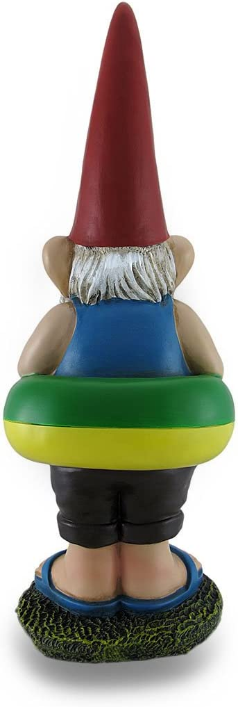Zeckos Pool Monitor Gnome Statue No Peeing in The Pool