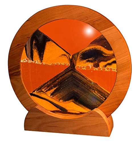 Exotic Sands USA - Circle Cherry Frame (Sunset Orange) Sand Picture