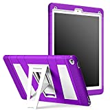 iPad Pro 12.9 Case - MoKo Silicone + White Hard Polycarbonate Protector with Foldable Stand Cover Case for Apple iPad Pro 12.9 Inch 2015 Release Tablet (NOT FIT iPad Pro 12.9 2017 Version), PURPLE