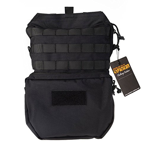 Price comparison product image Military Tactical Backpack Outdoor Bag Molle Bladder Carrier Nylon Rucksack Combat for Shooting Hunting Hiking Camping (Black)