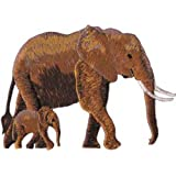 Application Brown Elephant and Baby Patch