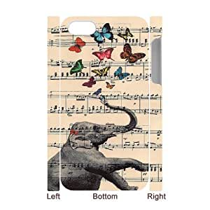 Elephant on Dictionary 3D-Printed ZLB523421 Customized 3D Phone Case for Iphone 4,4S