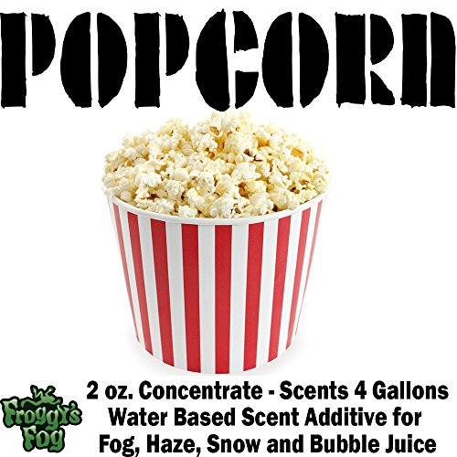 2 oz. POPCORN - Water Based Scent Additive for Fog, Haze, Snow & Bubble Juice - Scents 4 Gallons (2oz Popcorn Machine compare prices)