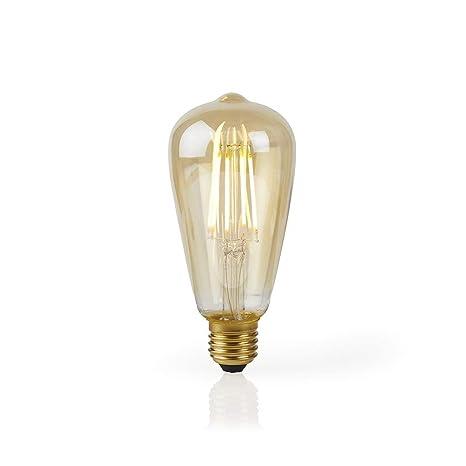 TronicXL - 2 bombillas LED XL WiFi con filamento, diseño retro, bombilla inteligente E27