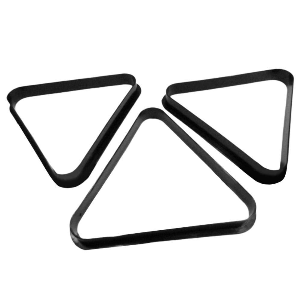 MRlegendary 2 1//4 Pulgada 15 Bola Negro Tri/ángulo De Pl/ástico para Billar con Bordes Redondeados Reforzados 57 Mm