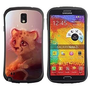 Pulsar iFace Series Tpu silicona Carcasa Funda Case para SAMSUNG Galaxy Note 3 III / N9000 / N9005 , Cute cheetah Cute Cheetah Cub