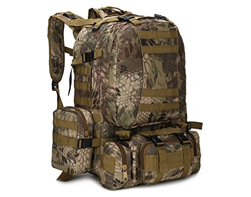 d1ef7cbb69c0 55L Molle Outdoor Military Tactical Bag Camping Hiking Trekking ...
