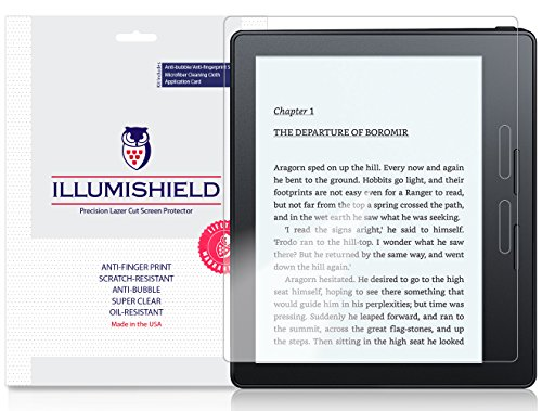 iLLumiShield Screen Protector Compatible with Kindle Oasis (3-Pack) Clear HD Shield Anti-Bubble and Anti-Fingerprint PET Film