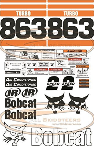 Complete 863 Decal Sticker Kit 30pcs for Bobcat Skid Steers | Replaces OEM Model # ()