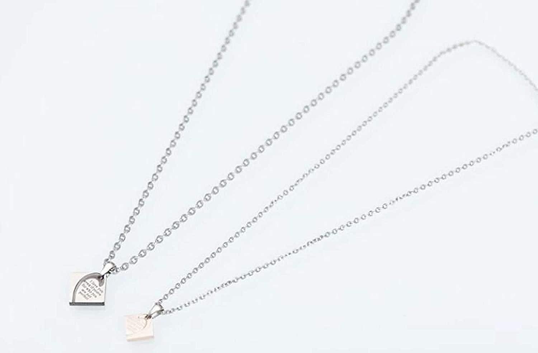 Men Women Stainless Steel Pendant Necklace Square Love Spelling Letter LOPEZ KENT Jewelry