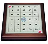 3dRose trv_30661_1 Bingo N Roses Trivet with Ceramic Tile, 8 by 8'', Brown