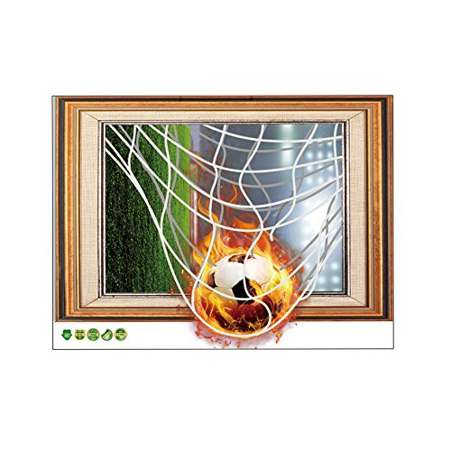 Fangeplus R DIY Removable 3D Football Soccer World Cup Photo Frame Art Mural Vinyl Waterproof Wall Stickers Kid Room Study Room Company Decor Nursery Decal Cabinet Door Sticker - Cup World Pictures Soccer