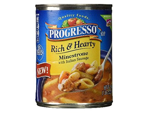 - Progresso Rich & Hearty Minestrone with Italian Sausage (Pack of 5)