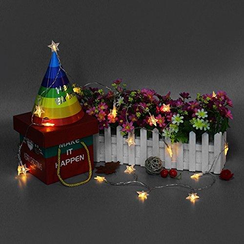 Lights & Lighting - Powered Warm Star Shaped Fairy String Light Christmas Patio - Chiffon Reddened Hotshot Conducted Strand Illuminate Headliner Twine Illuminating Soft Adept White - 1PCs