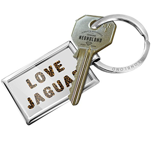 Keychain Love Jaguar Cheetah Cat Animal Print - NEONBLOND by NEONBLOND