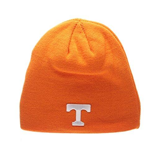 ZHATS Tennessee Volunteers Orange Edge Skull Cap - NCAA Cuffless Winter Knit Beanie Toque Hat