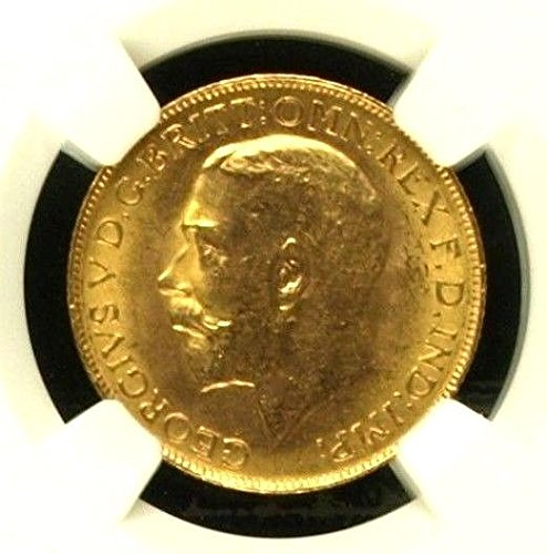 1911 CA Canada 1911 C Gold Coin Sovereign George V NGC MS coin MS 64 NGC