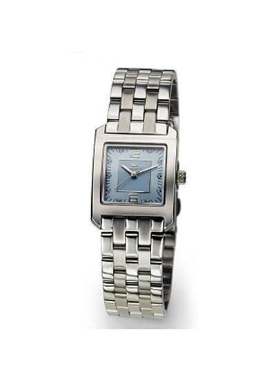 Lacoste 6800 L 68 - Reloj analógico de mujer de cuarzo con correa de acero inoxidable plateada: Amazon.es: Relojes