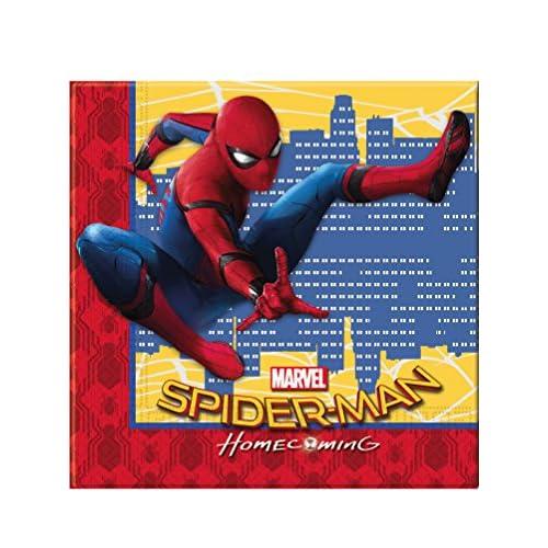 Générique 20 Serviettes en papier 33x33cm Spiderman Homecoming