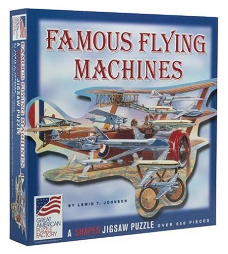 (Vintage Sports Cards Famous Flying Machines 650 Pc. Puzzle)