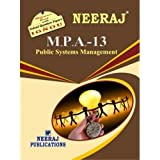 MPA13-Public Systems Management (IGNOU help book for MPA-13 in English Medium)