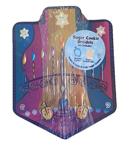 Hanukkah Sugar Cookie Mix in Colorful Dreidel Tin