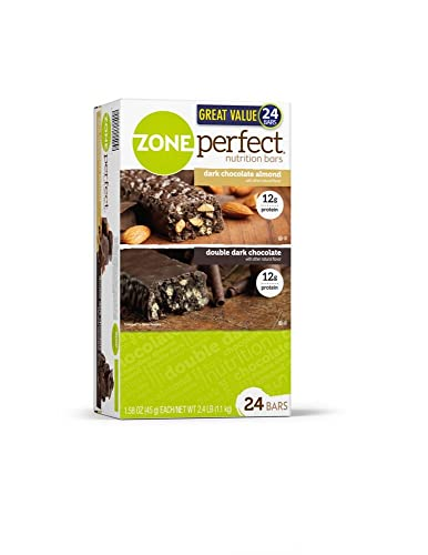 Zone Perfect Dark Chocolate 24 Great Tasting Protein Bars 1.58 Oz Net Wt 37.92 Oz