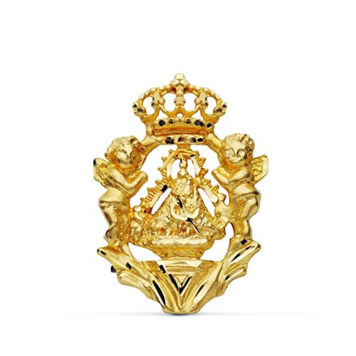 Pendentif Head Virgin 18k bouclier d'or [AB0723]