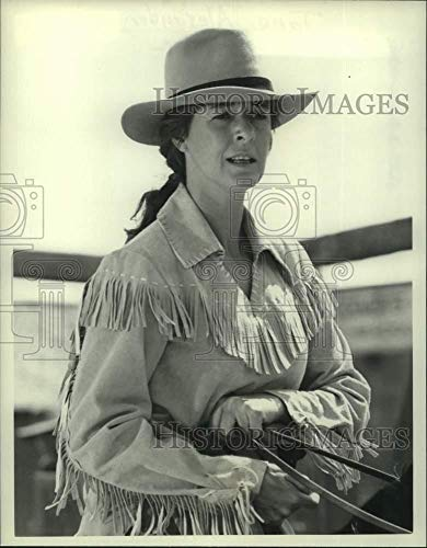 1985 Press Photo Jane Alexander as cowgirl in production scene - hca72841