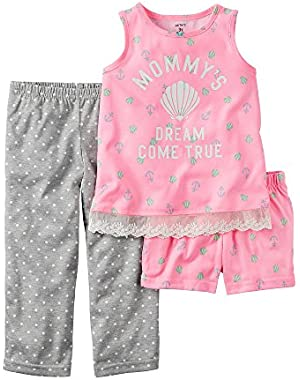 Girls' Mommys Dream Come True 3-Piece Pajama Set