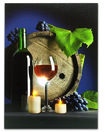 Red Wine and Grapes Radiance Lighted Canvas