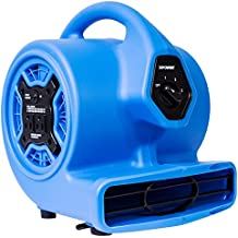XPOWER P-100A 3 Speeds Mini Air Mover with Built-In Dual Outlets for Daisy Chain