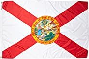 Florida State Flag 4x6 ft. Nylon SolarGuard NYL-Glo 100% Made in USA to Official State Design Specifications b