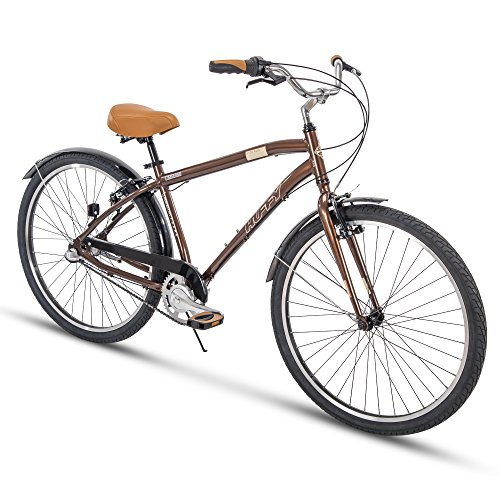 - Huffy Mens Commuter Bike, Hyde Park 27.5 inch 3-Speed, Lightweight