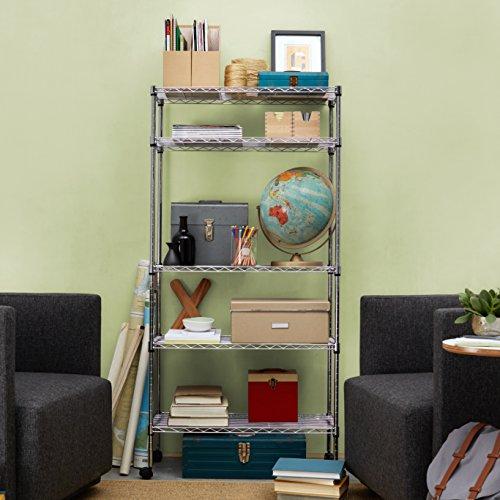 Kitchen Shelf Amazon: AmazonBasics 5-Shelf Shelving Unit On Wheels