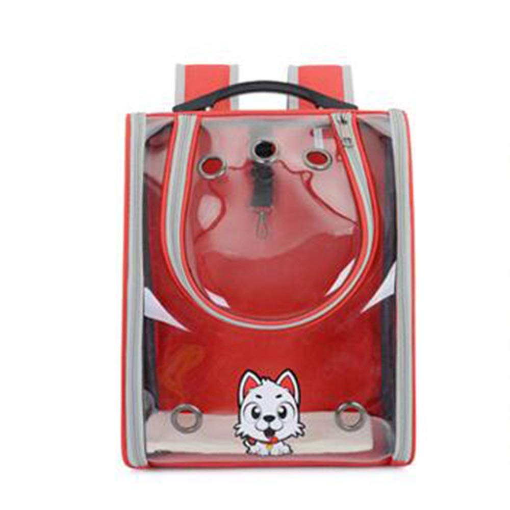 Red Douhuayu New Full Transparent pet Backpack Out Portable pet Dog cat Bag Breathable pet Bag (color   Yellow)