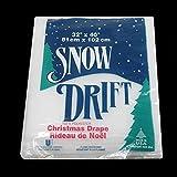 "Buffalo Snow White Artificial Christmas Drape, 32"" x 40"""
