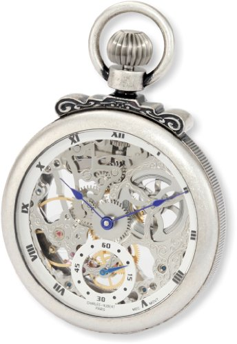 Charles-Hubert, Paris 3869-S Classic Collection Antiqued Finish Open Face Mechanical Pocket Watch by Charles-Hubert, Paris