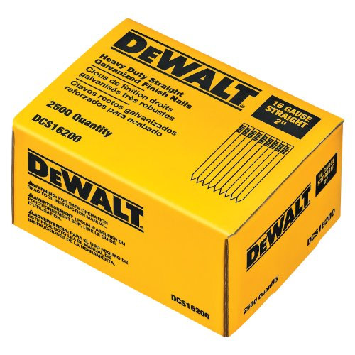 DEWALT DCS16200 2-Inch by 16 Gauge Finish Nail (2,500 per Box)