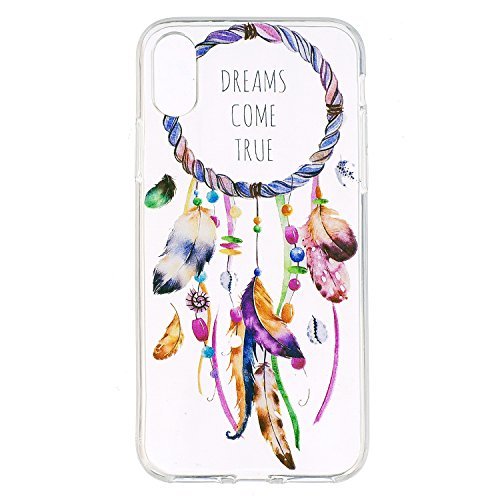 iphone 8 Custodia , Leiai Moda Campanula Trasparente Silicone Morbido TPU Cover Case Custodia per Apple iphone 8
