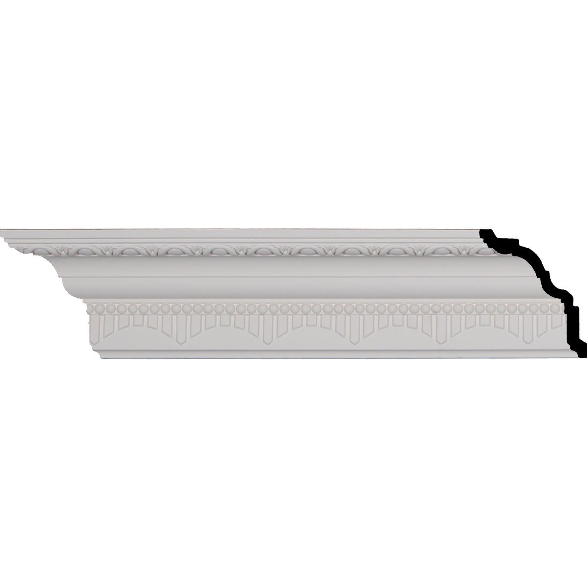 4 1/8'' H x 4'' P x 5 1/2'' F x 94 1/2'' L, (3 3/8'' Repeat), Dijon Crown Moulding (2-Pack)
