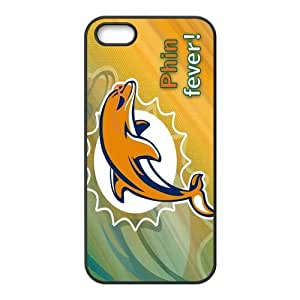 Custom Miami Dolphins NFL Back Cover Case for iphone 5,5S JN5S-1835