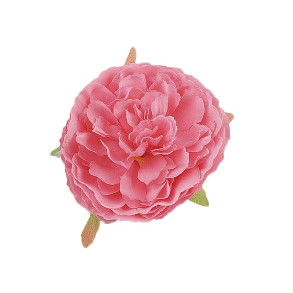 Malltop Shawn Holiday Flower Hair Clips Artificial Tea Flower Brooch Fashion Hair Accessories (peach pink)