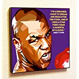 Mike Tyson Motivational Quotes Wall Decals Pop Art Gifts Portrait Framed Famous Paintings on Acrylic Canvas Poster Prints Artwork Geek Decor Wood