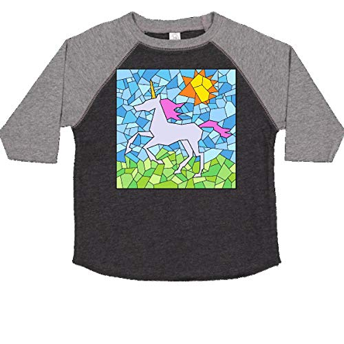 inktastic - Stained Glass Unicorn Toddler T-Shirt 2T Smoke and Granite 34a1a